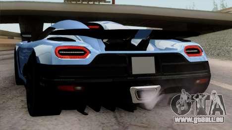 Koenigsegg Agera R 2014 Carbon Wheels pour GTA San Andreas roue