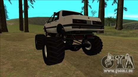 Willard Monster pour GTA San Andreas vue arrière