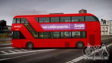 Wrightbus New Routemaster Abellio London pour GTA 4 est une gauche