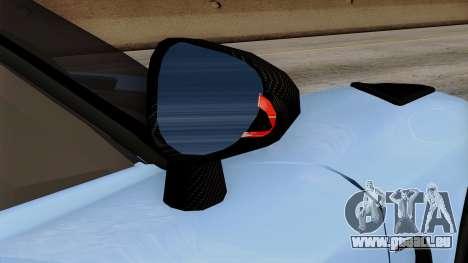 Koenigsegg Agera R 2014 Carbon Wheels pour GTA San Andreas vue de dessus