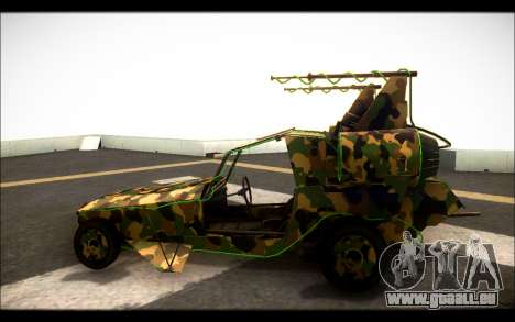 Camo Space Docker pour GTA San Andreas laissé vue