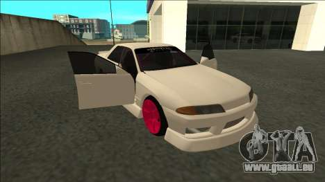 Nissan Skyline R32 Sedan Monster Energy Drift für GTA San Andreas Rückansicht