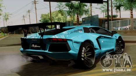Lamborghini Aventador LB Performance pour GTA San Andreas laissé vue