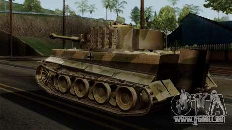 Panzerkampfwagen VI Ausf. E Tiger No Interior pour GTA San Andreas laissé vue