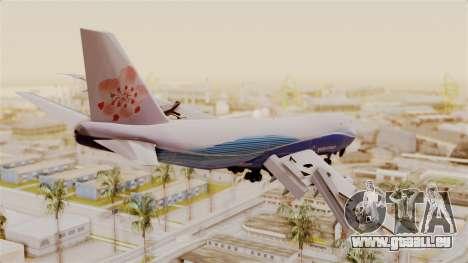 Boeing 747-200 China Airlines Dreamliner pour GTA San Andreas laissé vue