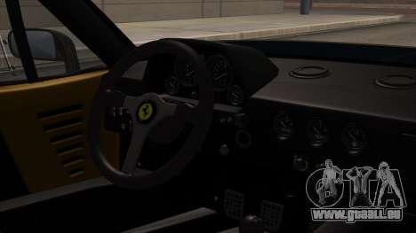 Ferrari F40 1987 HQLM pour GTA San Andreas vue de droite