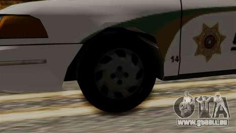 Ford Crown Victoria LP v2 Sheriff New pour GTA San Andreas sur la vue arrière gauche