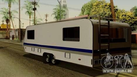 Camper Trailer pour GTA San Andreas laissé vue