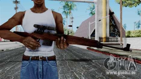 Gewehr 43 ZF from Battlefield 1942 pour GTA San Andreas troisième écran