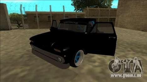 Chevrolet C10 Drift Monster Energy pour GTA San Andreas vue arrière