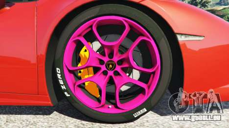 GTA 5 Lamborghini Huracan 2015 rechte Seitenansicht