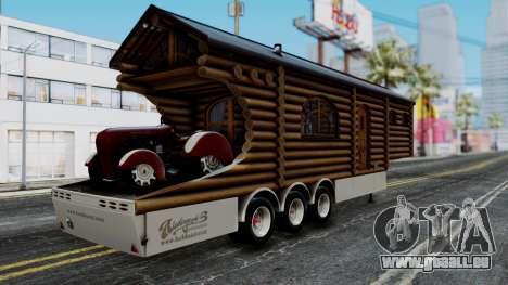 Scania Showtrailer Cabane pour GTA San Andreas laissé vue