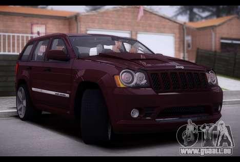 Jeep Grand Cherokee SRT8 2008 für GTA San Andreas zurück linke Ansicht
