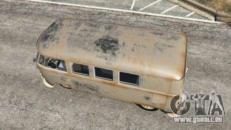 GTA 5 Volkswagen Transporter 1960 rusty [Beta] vue arrière