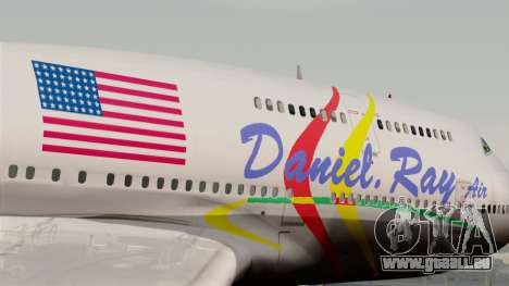 Boeing 747-400 Friendship Tag pour GTA San Andreas vue arrière