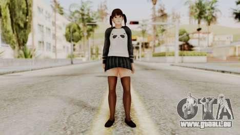 DOA 5 LeiFang Panda T-shirt pour GTA San Andreas deuxième écran