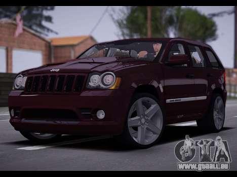 Jeep Grand Cherokee SRT8 2008 pour GTA San Andreas laissé vue