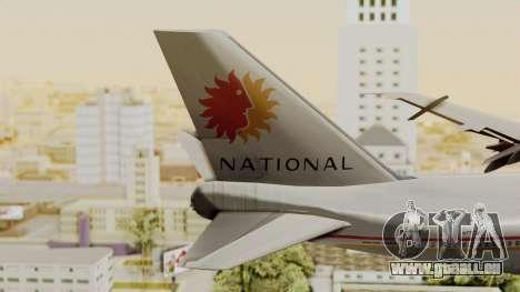 Boeing 747-100 National Airlines für GTA San Andreas zurück linke Ansicht