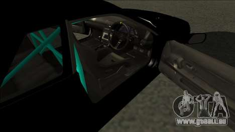 Nissan Skyline R32 Drift Monster Energy für GTA San Andreas zurück linke Ansicht