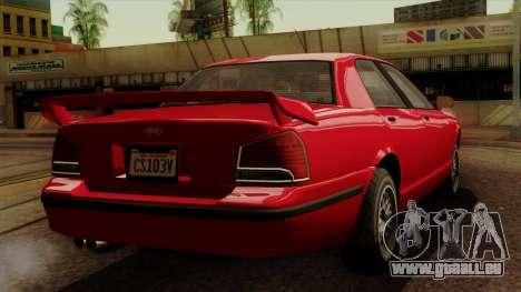 GTA 5 Vapid Stanier II für GTA San Andreas linke Ansicht