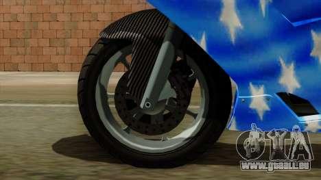 Bati America Motorcycle für GTA San Andreas zurück linke Ansicht