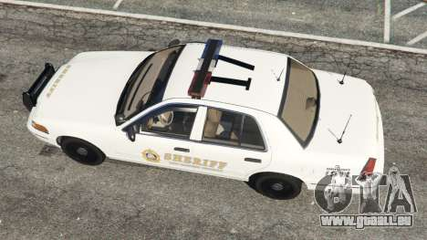 GTA 5 Ford Crown Victoria 1999 Sheriff v1.0 vue arrière