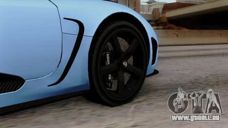 Koenigsegg Agera R 2014 Carbon Wheels pour GTA San Andreas sur la vue arrière gauche