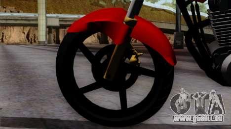 Honda Twister 2014 pour GTA San Andreas sur la vue arrière gauche