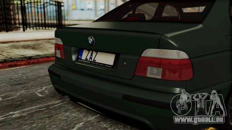 BMW 530D E39 1999 Mtech pour GTA San Andreas vue arrière