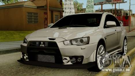 Mitsubishi Lancer Evolution X FQ400 Pro pour GTA San Andreas