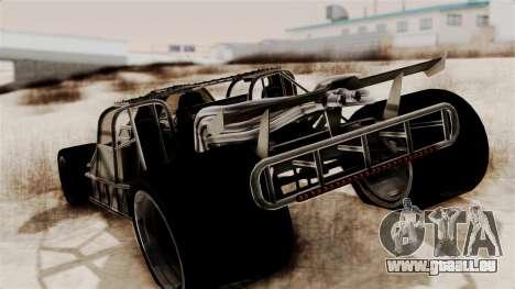 Camo Flip Car für GTA San Andreas linke Ansicht