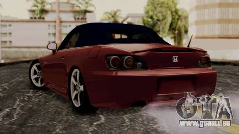 Honda S2000 pour GTA San Andreas laissé vue