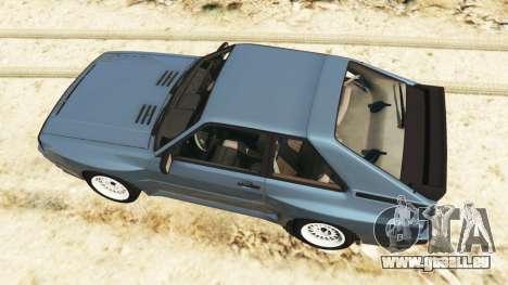 GTA 5 Audi Sport quattro v1.1 vue arrière