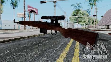 Gewehr 43 ZF from Battlefield 1942 pour GTA San Andreas deuxième écran