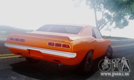 Chevy Camaro 69 für GTA San Andreas rechten Ansicht