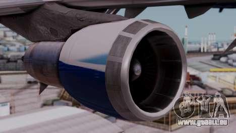 Boeing 747-400 Dreamliner Livery pour GTA San Andreas vue de droite