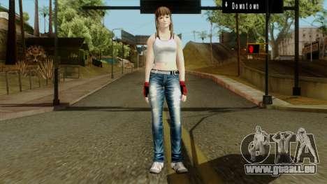 Dead Or Alive 5 Hitomi 1st Cos für GTA San Andreas zweiten Screenshot