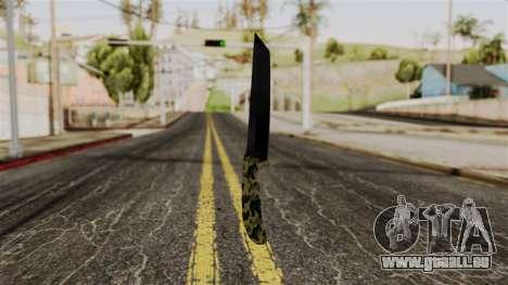 Neue camo Messer für GTA San Andreas zweiten Screenshot