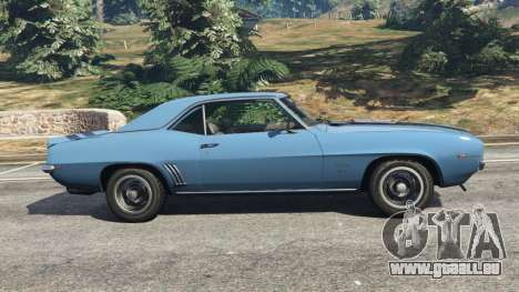 GTA 5 Chevrolet Camaro SS 350 1969 vue latérale gauche