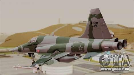 Northrop F-5E Tiger II Texture FAB pour GTA San Andreas laissé vue
