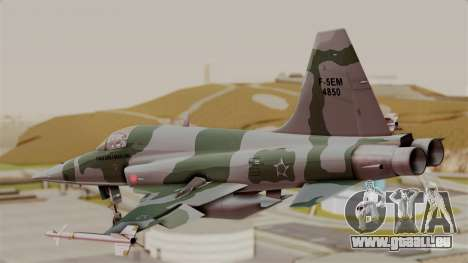 Northrop F-5E Tiger II Texture FAB für GTA San Andreas linke Ansicht