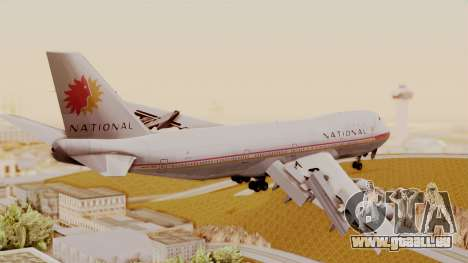 Boeing 747-100 National Airlines für GTA San Andreas linke Ansicht