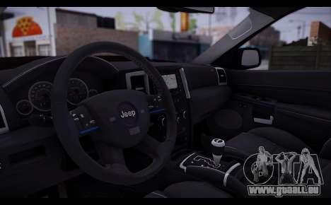 Jeep Grand Cherokee SRT8 2008 pour GTA San Andreas vue arrière