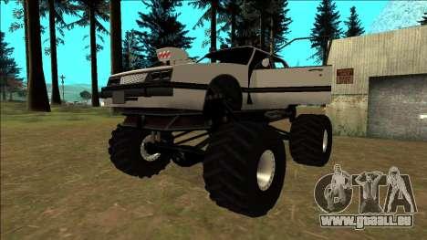 Willard Monster pour GTA San Andreas vue de dessous