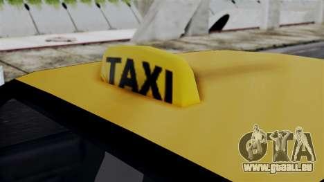 Taxi Casual v1.0 für GTA San Andreas zurück linke Ansicht