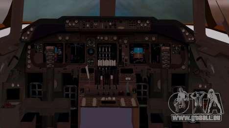 Boeing 747-400 Dreamliner Livery pour GTA San Andreas vue arrière