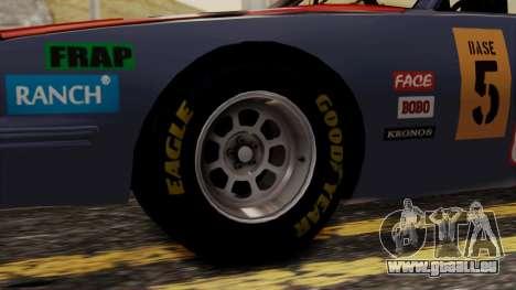 Pontiac GranPrix Hotring 1981 No Dirt pour GTA San Andreas sur la vue arrière gauche