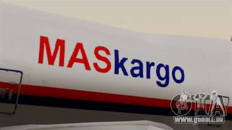 Boeing 747 MasKargo pour GTA San Andreas vue arrière