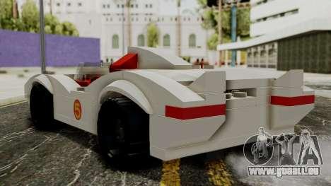 Lego Mach 5 pour GTA San Andreas laissé vue