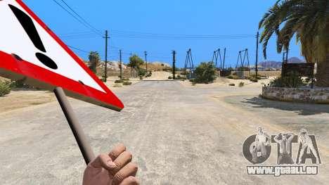GTA 5 Panneau routier troisième capture d'écran